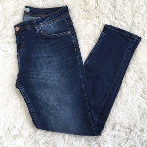 Zara Denim Skinny Jeans Dark Wash
